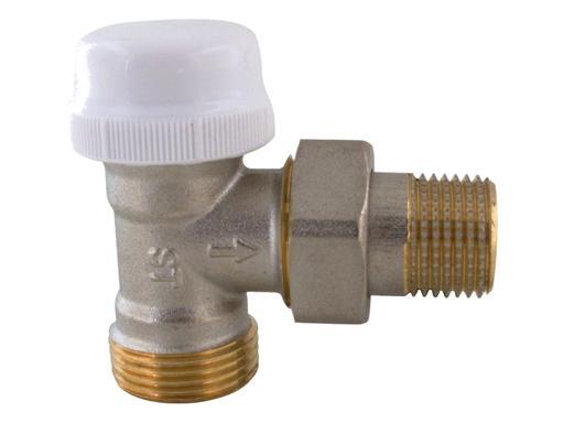 """IVR termostatický ventil rohový DN 15 - 1/2"""" x 3/4""""' EK venkovní"""