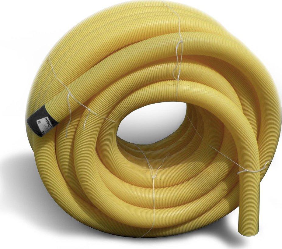 PVC drenážní trubka DN 100 žlutá děrovaná