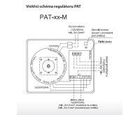 BOKI Trafo podomítkové PAT-02-M-02 s možností přepínání otáček libovolným termostatem