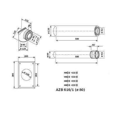 Junkers AZB 918 Odkouření do strany 0,5-0,7m