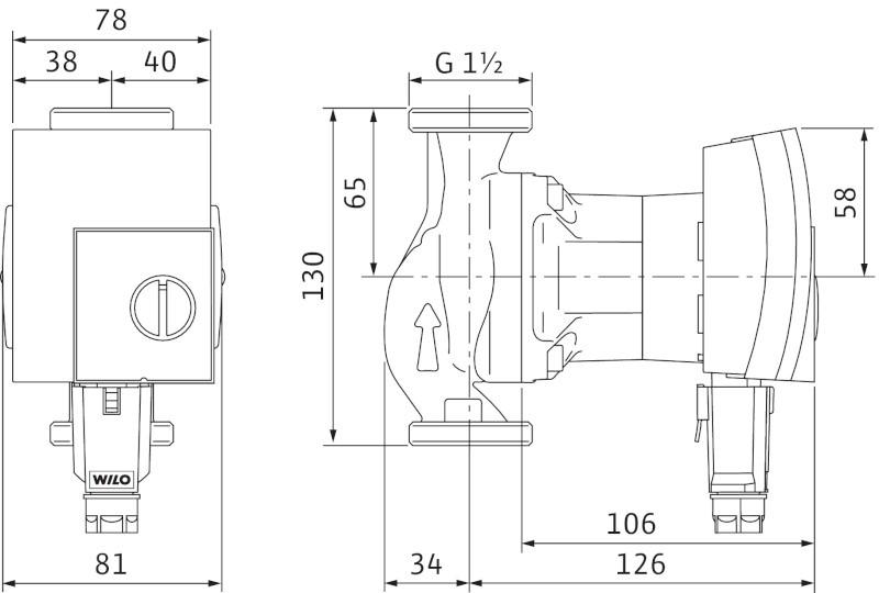 wilo yonos pico 25 1 4 130mm ob hov erpadlo pro topen topenilevne cz. Black Bedroom Furniture Sets. Home Design Ideas