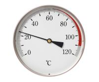 """Teploměr DN 80, 0-120°C, zad.výv. 1/2"""",jím.50 mm"""