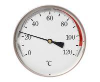 """Teploměr DN100, 0-120°C, zad.výv. 1/2"""", jím.150mm"""