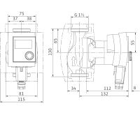 WILO Stratos PICO 25/1-6 - 130mm oběhové čerpadlo pro topení