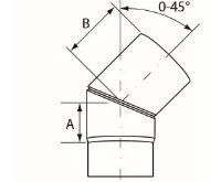 Almeva Koleno 0-45° nastavitelné - ø180