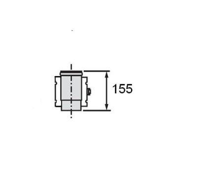 Vaillant Oddělovací prvek, O 60/100 mm, PP