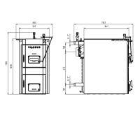 Viadrus HERCULES U32  7 čl. Kotel na tuhá paliva vč. odtahového ventilátoru POV180LU