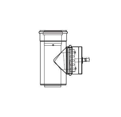 ALMEVA LIK revizní T-kus s měřícím otvorem - 80/125
