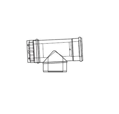 ALMEVA LIK revizní T-kus se změnou směru - 80/125