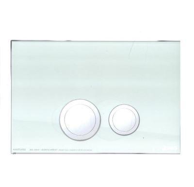 JOMO ovládací tlačítko AVANTGARDE - sklo zelené/lesklý chrom