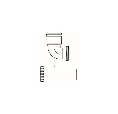 ALMEVA FLEX koleno 87° pro vyvložkování redukované 80/60