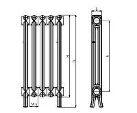 Viadrus Kalor 900 / 160 -  6 článek, litinový radiátor