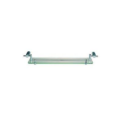 SABA-polička 60x13cm-chrom/satin/sklo