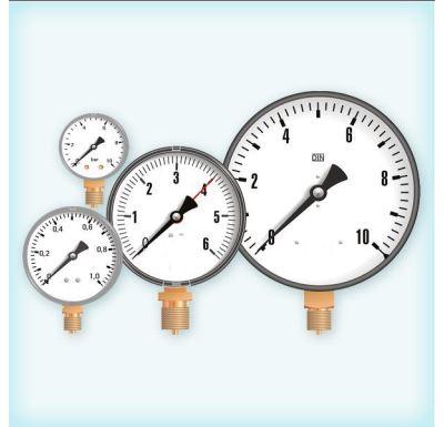 """Manometr - tlakoměr 100mm 1/2"""" Radiál - spodní vývod 0-4 bar"""