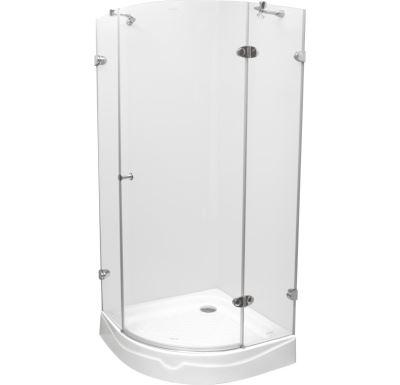 PROFI-RICH Sprchový kout  čtvrtkruh 90x90x190 chrom - sklo - čiré PCK70103E