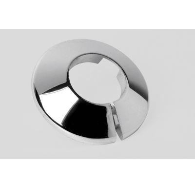 Krytka trubková 15 mm, chromovaná - dělená