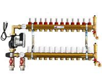 KIIPTHERM sestava rozdělovače PROFI P5 - 12 okruhů a skříně podomítkové