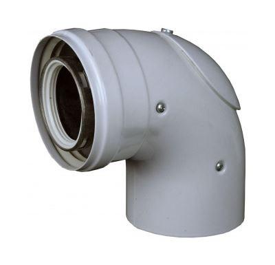 AZ koleno 90° s inspekčním otvorem 60/100 PP/plech