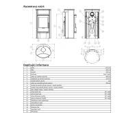 ABX Pori 7 Aqua Krbová kamna s výměníkem 6kw - šedý plech | AKCE kazeta značkového vína