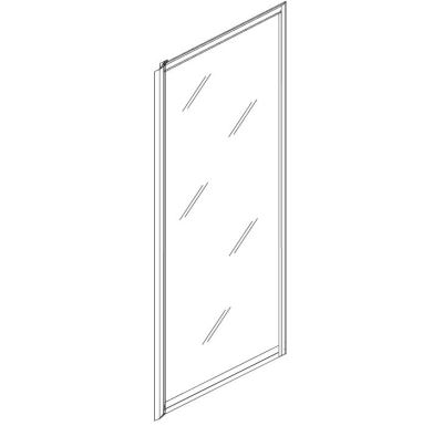 RAVAK Sprchová pevná stěna Rapier RPS-100 white+transparent
