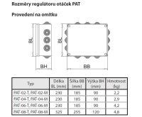 BOKI Trafo nadomítkové PAT-02-T-01 s možností přepínání otáček mechanickým termostatem