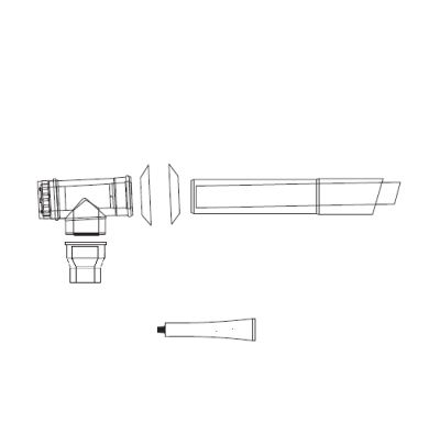 ALMEVA Univerzální sestava fasádního odkouření 80/125 - 5 m PPH-PPH