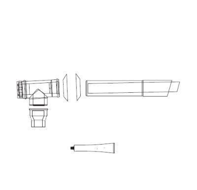 ALMEVA Univerzální sestava fasádního odkouření 80/125 - 7,5 m PPH-PPH
