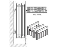 Radiátor Klasik R 33-554/1000 - PURMO AKCE Termohlavice za 50,- Kč