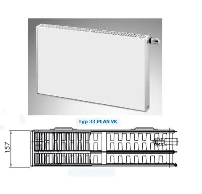 Radiátor PLAN VK 33-900/1000 - Radik Korado