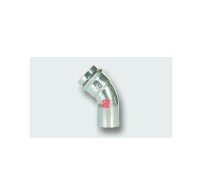 C-STEEL lisovací koleno MxF 45° - 88,9 vnitřní - vnější, uhlíková ocel