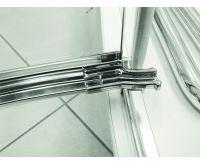 PROFI-RICH Sprchové dveře 120x190 - chrom - sklo - point - levé