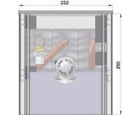 MINIB Samostatně stojící konvektor COIL-SW250 1750mm