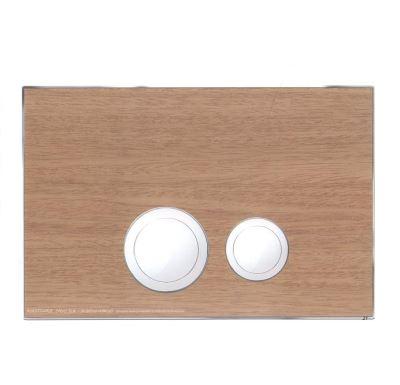 JOMO ovládací tlačítko AVANTGARDE - Dřevo buk/lesklý chrom