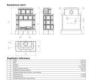 ABX Karelie -Kachlová kamna s výměníkem 7kw písková kach.sokl | AKCE kazeta značkového vína