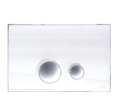 JOMO ovládací tlačítko ELEGANCE - sklo bílé/lesklý chrom