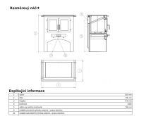 ABX Kuchyňský sporák bez trouby - černý plech, sklokeramická deska | AKCE kazeta značkového vína