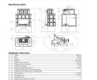 ABX Karelie -Kachlová kamna s výměníkem 10kw hnědá | AKCE kazeta značkového vína