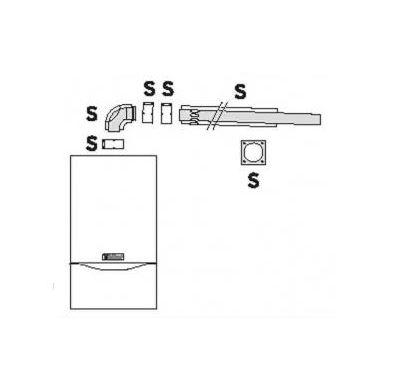 Vaillant Připojení na komín, šachtu 60/100 mm