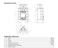 ABX Regina rohová s nástavbou - Kachlová kamna buche | AKCE kazeta značkového vína