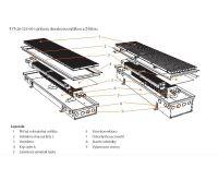 BOKI InFloor Podlahový konvektor F1T  90/290-6500mm - pozink S ventilátorem