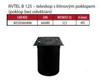 OSMA kanalizační šachta 315x1000 mm průchozí KG 160 poklop teleskopický plný - 12,5t