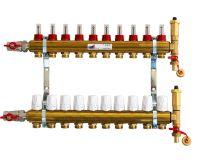 KIIPTHERM sestava rozdělovače PROFI P4 - 10 okruhů a skříně podomítkové