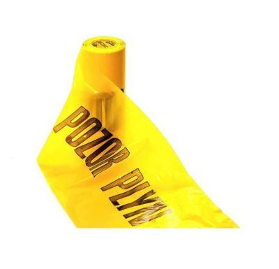 "Fólie žlutá ""POZOR PLYN"" š.30cm | 1m"