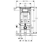 Geberit Duofix Special pro závěsná WC do bytových jader