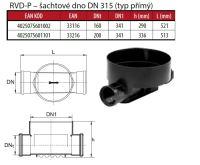 OSMA kanalizační šachta 315x2000 mm průchozí KG 200 poklop plný - 1,5t