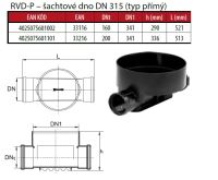 OSMA kanalizační šachta 315x3000 mm průchozí KG 160 poklop plný - 1,5t