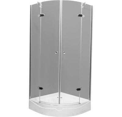PROFI-RICH  sprchový kout  čtvrtkruh 90x90x190 chrom - sklo - čiré
