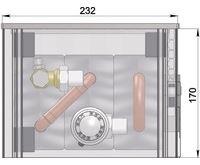 MINIB Nástěnný konvektor COIL-NW170 1000 mm Bez ventilátoru