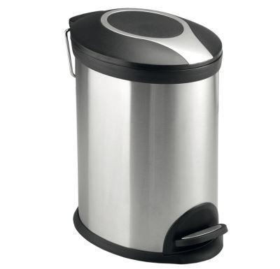 PROFI-RICH Odpadkový koš ovál, nerez-mat  5l