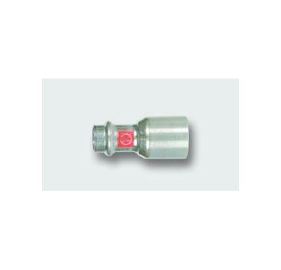 C-STEEL lisovací redukce  28 x 22 vnitřní - vnější, uhlíková ocel